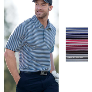 Cutter & Buck Men's Division Stripe Polo With CB DryTec 50+ UPF